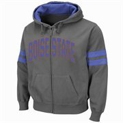 Boise State Broncos Tiger Full Zip Hoodie - Charcoal