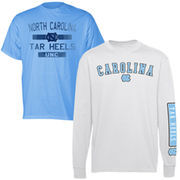 North Carolina Tar Heels (UNC) 2-Piece T-Shirt Combo Pack - White/Carolina Blue
