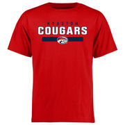 Men's Red Houston Cougars Team Strong T-Shirt