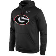 Men's Nike Anthracite Georgia Bulldogs Practice Performance Hoodie