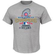 Men's Majestic Gray Chicago Cubs 2016 World Series Champions Locker Room T-Shirt