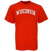 Men's Wisconsin Badgers Cardinal Arch T-Shirt