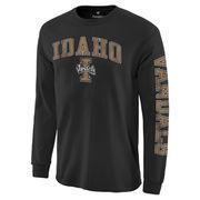Men's Black Idaho Vandals Distressed Arch Over Logo Long Sleeve Hit T-Shirt