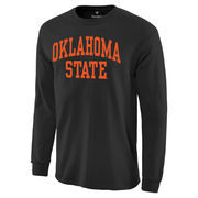 Men's Black Oklahoma State Cowboys Basic Arch Long Sleeve T-Shirt