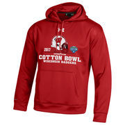 Men's Under Armour Red Wisconsin Badgers 2017 Cotton Bowl Bound Pullover Hoodie