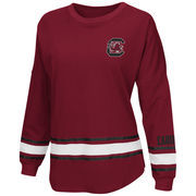 Women's Colosseum Garnet South Carolina Gamecocks All Around Oversized Long Sleeve T-Shirt