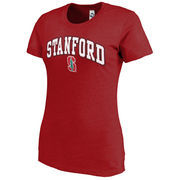 Women's New Agenda Heathered Cardinal Stanford Cardinal Big Arch & Logo Ring Spun T-Shirt