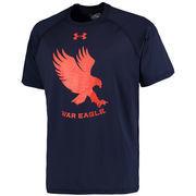 Men's Under Armour Navy Auburn Tigers Logo Tech Performance T-Shirt
