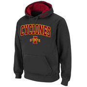 Men's Stadium Athletic Charcoal Iowa State Cyclones Arch & Logo Pullover Hoodie