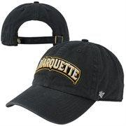 '47 Brand Marquette Golden Eagles Clean-Up Adjustable Hat - Navy Blue