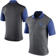Men's Nike Gray Kentucky Wildcats 2015 Coaches Preseason Sideline Polo