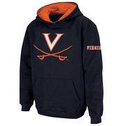 Youth Stadium Athletic Navy Virginia Cavaliers Big Logo Pullover Hoodie