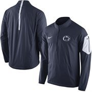 Men's Nike Navy Penn State Nittany Lions 2015 Football Coaches Sideline Half-Zip Wind Jacket