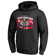 Men's Fanatics Branded Black Indiana Hoosiers vs. Utah Utes 2016 Foster Farms Bowl Motion Matchup Pullover Hoodie