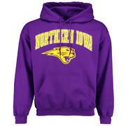 Men's Purple Northern Iowa Panthers Midsize Arch Over Logo Hoodie