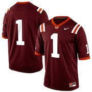 Nike Virginia Tech Hokies #1 Game Football Jersey - Maroon