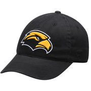 Men's Top of the World Black Southern Miss Golden Eagles Relaxer 1Fit Flex Hat