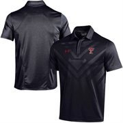 Men's Under Armour Black Texas Tech Red Raiders 2015 Coaches Sideline Scout Polo