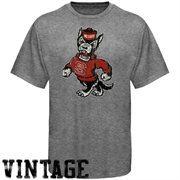 NC State Wolfpack Distressed Big Logo Ring Spun T-Shirt - Gray