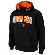 Men's Stadium Athletic Black Oregon State Beavers Arch & Logo Pullover Hoodie