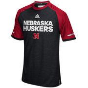 Men's adidas Black Nebraska Cornhuskers 2016 Sideline climalite Top