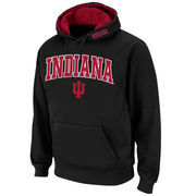 Men's Stadium Athletic Black Indiana Hoosiers Arch & Logo Pullover Hoodie