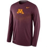 Men's Nike Maroon Minnesota Golden Gophers 2015 Sideline Dri-FIT Legend Long Sleeve Performance T-Shirt
