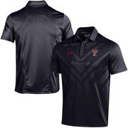 Men's Under Armour Black Texas Tech Red Raiders Coaches Sideline Scout Polo