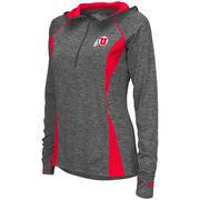 Women's Colosseum Charcoal Utah Utes Monet Windshirt Quarter-Zip Pullover Jacket