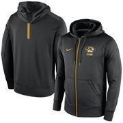 Men's Nike Black Missouri Tigers Sideline KO Fleece Full Zip Therma-FIT Hoodie