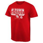 Men's Red Houston Cougars 2015 Peach Bowl Champions Flavor T-Shirt