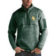 Men's Antigua Heathered Green Baylor Bears Fortune 1/2-Zip Pullover Sweater