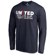Men's Fanatics Branded Navy Gonzaga Bulldogs Men's Basketball United we ZAG Long Sleeve T-Shirt