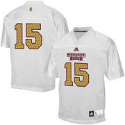 Mens Mississippi State Bulldogs adidas White No. 15 Egg Bowl Football Jersey