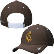 Men's Nike Brown Wyoming Cowboys Dri-FIT Sideline Coaches Adjustable Hat