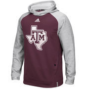Men's adidas Gray Texas A&M Aggies 2016 Sideline Player climawarm Hoodie