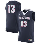 Men's Nike #13 Navy Gonzaga Bulldogs Replica Jersey