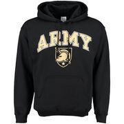 Men's New Agenda Black Army Black Knights Midsize Arch Over Logo Hoodie
