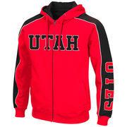Men's Colosseum Red/Black Utah Utes Thriller II Full-Zip Hoodie