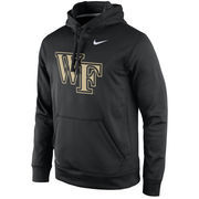 Men's Nike Black Wake Forest Demon Deacons Practice Performance Hoodie