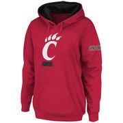 Women's Stadium Athletic Red Cincinnati Bearcats Big Logo Pullover Hoodie