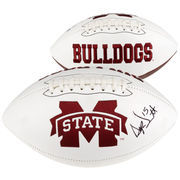 Dak Prescott Mississippi State Bulldogs Autographed White Panel Football