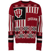 Unisex Klew Crimson Indiana Hoosiers Thematic Ugly Sweater