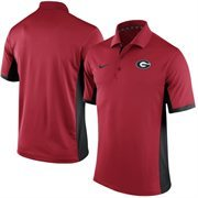 Men's Nike Red Georgia Bulldogs Team Issue Performance Polo