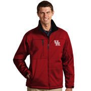 Men's Antigua Red Houston Cougars Traverse Full-Zip Jacket