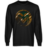 Colorado State Rams Blackout Long Sleeve T-Shirt - Black