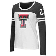 Women's Colosseum White Texas Tech Red Raiders Hornet Long Sleeve T-Shirt
