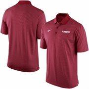 Men's Nike Crimson Alabama Crimson Tide Stadium Stripe Performance Polo