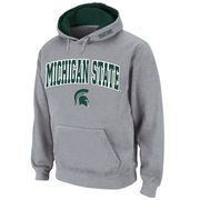 Men's Stadium Athletic Gray Michigan State Spartans Arch & Logo Pullover Hoodie