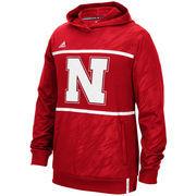 Men's adidas Red Nebraska Cornhuskers Sideline Shock Energy Climalite Performance Hoodie